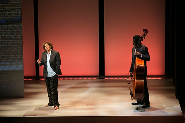"""Anna Deavere Smith and Marcus Shelby in """"Notes from the Field: Doing Time in Education."""""""