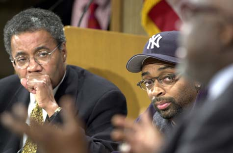 Photo of Spike Lee and Alvin Poussaint
