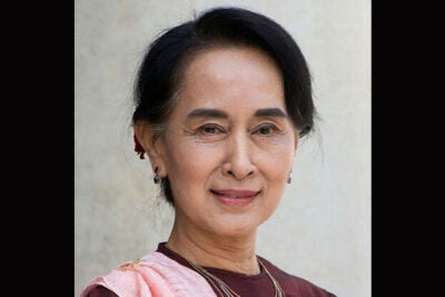 Aung San Suu Kyi is the fourth Nobel Peace Prize laureate to receive the Harvard Foundation Humanitarian Award.