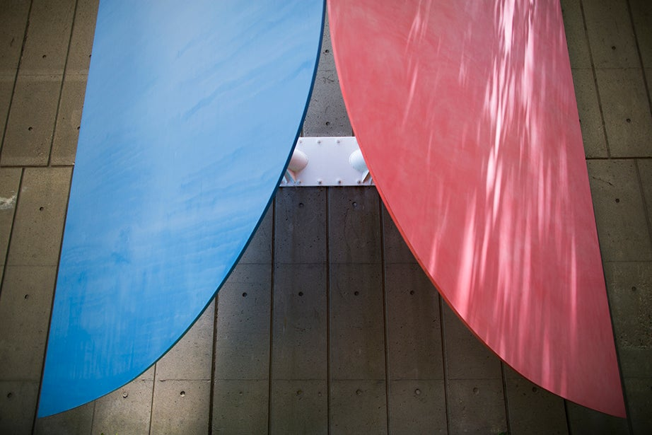 Red, Blue by Ellsworth Kelly is at Peabody Terrace.