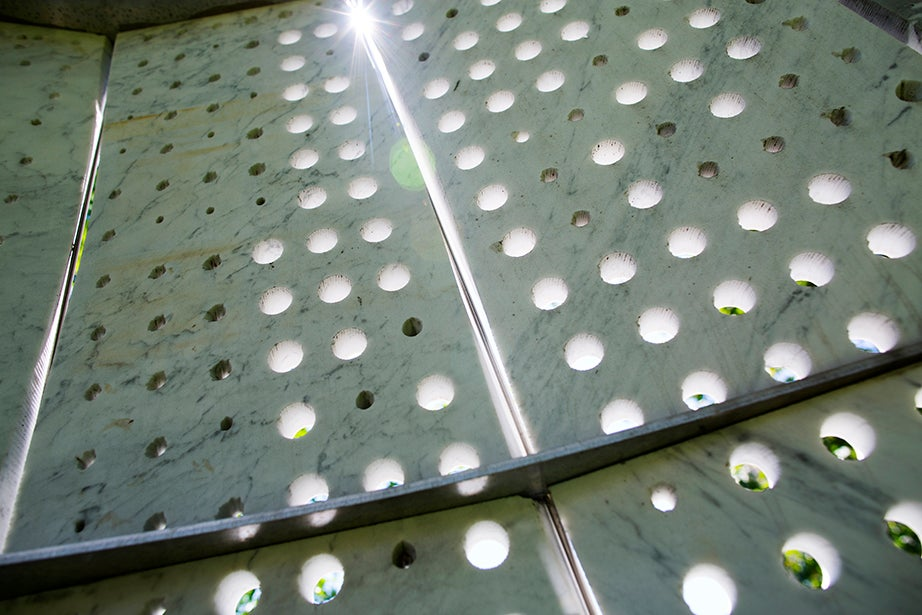 Surfacing Stone by Martin Bechthold at Gund Hall at the Harvard Graduate School of Design.