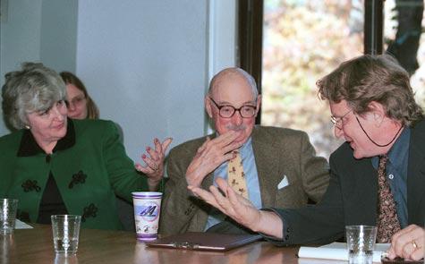 Photo of Julia Taft, John Kenneth Knaus, and Robert Thurman