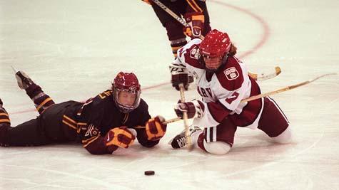 Harvard Women's Hockey in action
