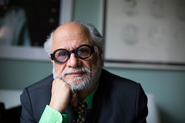 Homi Bhabha is the Anne F. Rothenberg Professor of the Humanities in the Department of English, the Director of the Humanities Center and the Senior Advisor on the Humanities to the President and Provost at Harvard University. He is pictured in his home in Cambridge.