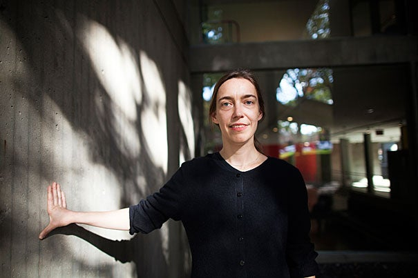 """Visual and Environmental Studies Assistant Professor Nora Schultz is a German artist who creates sculptural installations involving unorthodox methods. """"If someone writes a text or produces a sound piece in our sculpture course,"""" she says, """"I consider it a sculptural project."""""""