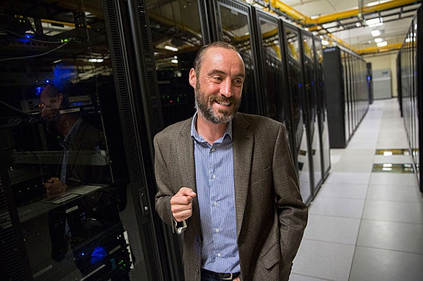 James Cuff, assistant dean and distinguished engineer for research computing, is the principle investigator on a $4 million NSF grant to develop the North East Storage Exchange, a collaboration of five local universities to provide easier storage and faster retrieval of massive quantities of data.