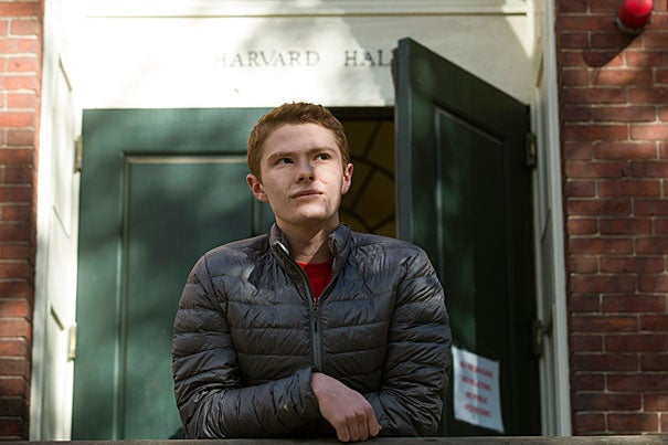 Will Macarthur '20, a member of Club Four at Cambridge Rindge and Latin School before coming to Harvard, decided to apply to the College in part because he enjoyed volunteering at the Harvard Square Homeless Shelter.