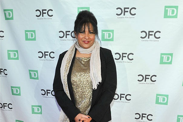 """Pam Grier on the red carpet at the Black History Month event """"An Evening with Pam Grier"""" 2012 Credit: Canadian Film Centre from Toronto, Canada/Creative Commons"""