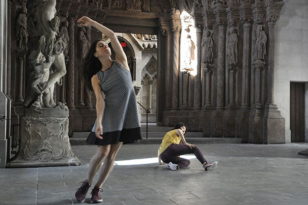"""Less of a performance than an experience, American Repertory Theater's """"The Garden"""" immerses a handful of audience members in the action using headsets that instruct each individual with physical and mental choreography throughout the show."""