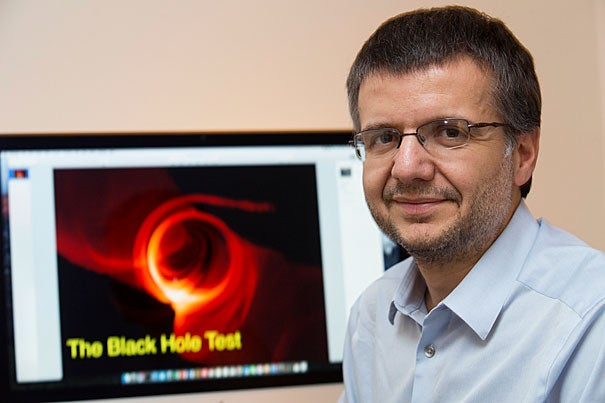 Astronomer and Radcliffe fellow Dimitrios Psaltis is working on black holes as part of the massive Event Horizon Telescope project that will point a number of Earth's telescopes at the Milky Way's black hole this spring.