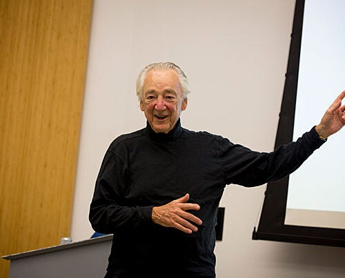 """Harvard Professor Charles Nesson's Question 4 discussion Tuesday evening at the Ed Portal tapped into his HarvardX course """"JuryX: Deliberations for Social Change."""""""