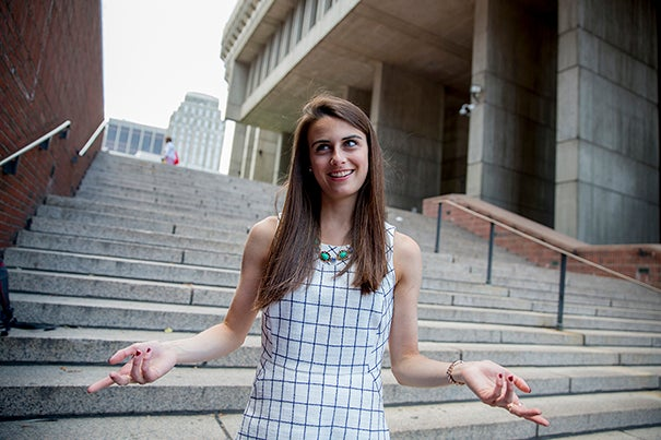 Jackie Lender '16 is the first recipient of a new Harvard Presidential City of Boston Fellowship, which places a recent Harvard College graduate at Boston City Hall to work with Mayor Martin J. Walsh and his team for one year.