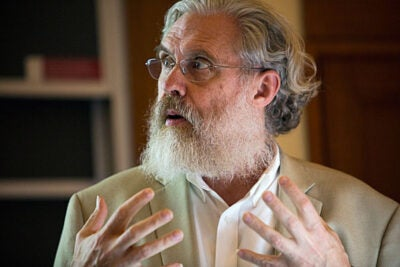 "George Church, Robert Winthrop Professor of Genetics, spoke on the development of synthetic embryos that stand to make the 14-day rule irrelevant. ""[T]here's essentially no limit to the technology,"" said Church, ""so we need to focus on ethics and humanity."""