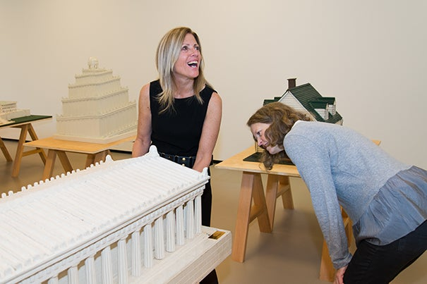 A scale model of the Parthenon was part of a WPA project to provide blind students with tactile tools for learning. Kevin Grady/Radcliffe Institute