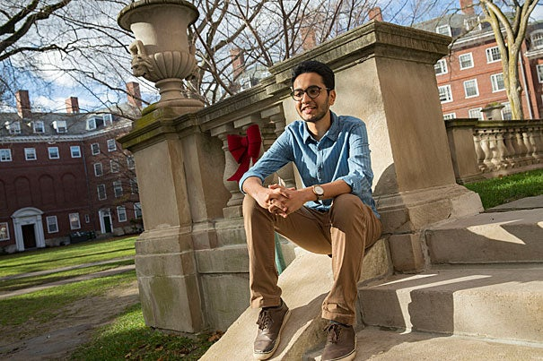 Rhodes Scholar Dhruva Bhat '17 and Marshall Scholar Julius Ross '17 (not pictured) will spend the next two years at Oxford University studying toward graduate degrees in development and zoology, respectively.