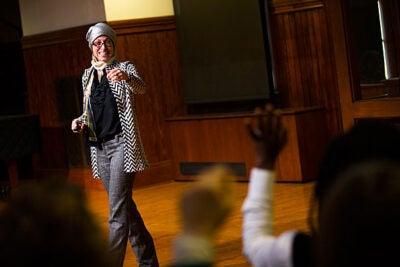 Celene Ibrahim leads a Diversity Dialogue titled Muslim Feminism.