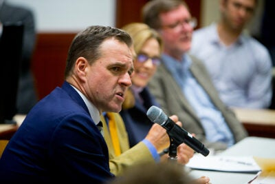 "Historian Niall Ferguson, speaking during ""25 Years After the Collapse of the Soviet Union: What Comes Next?"", suggested that the cozy relationship between Vladimir Putin and Donald Trump will improve relations between the U.S. and Russia, but that predicting either leader's behavior has been difficult."