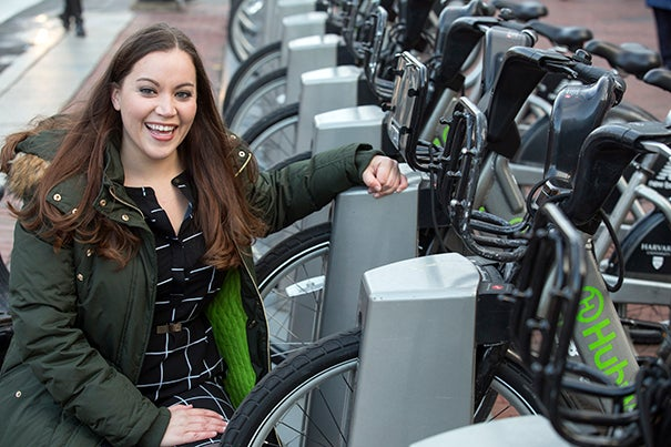 Kathryn Taylor, visiting scientist at Harvard Chan School, is the senior author of a study examining Boston's bicycling safety that found the city's infrastructure and education initiatives have significantly reduced cyclist injuries since 2009.