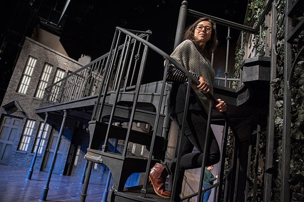 """Jen Schriever, lighting designer for the A.R.T. production """"Fingersmith,"""" explained that with only one main set to work with, she and the design team had to get creative. """"This is one prime example of why lighting is so important,"""" said Schriever."""