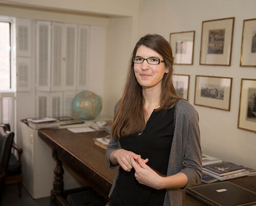 Laura Lewis, junior fellow in the Harvard Society of Fellows, is the author of a recent paper on new ways to use functional MRI scans to investigate the brain's activity as it enters unconsciousness.