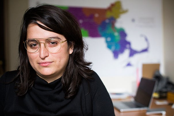 Paola Villarreal, a fellow at the Berkman Klein Center, is using data visualization to shed light on inequality in health, housing, and more.