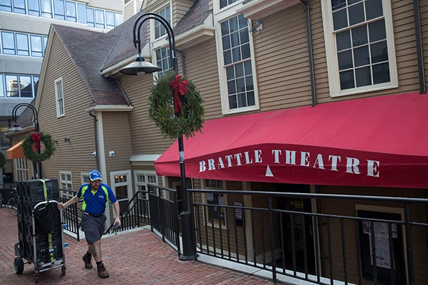 "As part of a student column about ""The Hidden Spots of Harvard Square: A Studentís Guide"" the Brattle Theater was featured. Kris Snibbe/Harvard Staff Photographer"