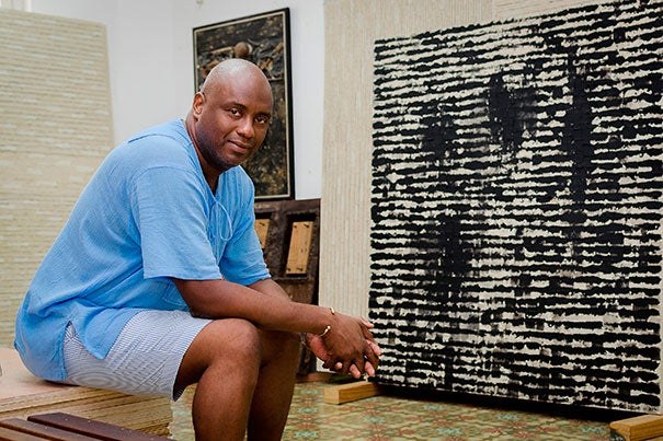 """Diago: The Pasts of This Afro-Cuban Present,"" an exhibit by Cuban mixed-media artist Juan Roberto Diago, opens Feb. 2 at the Cooper Gallery."