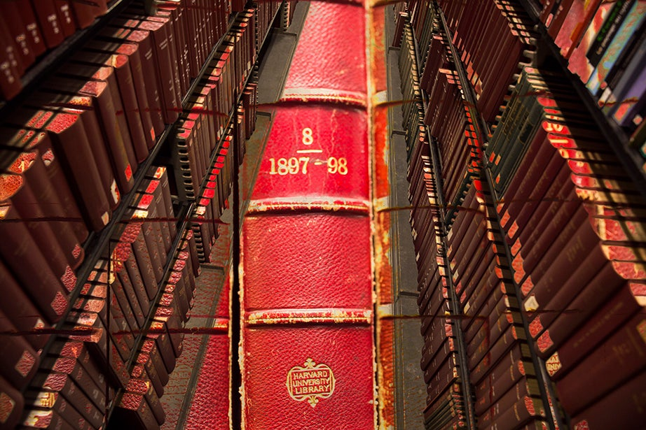 With more than 50 miles of shelves and more than 3 million volumes, the stacks of Widener Library are brimming with books.