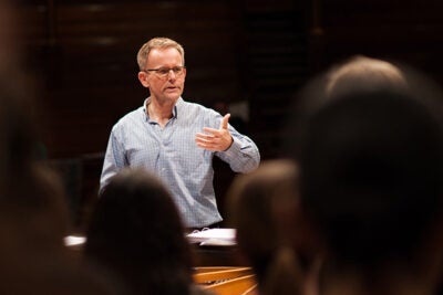"Grammy-winning composer Craig Hella Johnson returns to Boston Symphony Hall to lead an innovative rendition of his piece ""Remembering Matthew Shepard,"" in which  110 Harvard students interspersed throughout the audience will join in with the performers onstage during the show's finale."