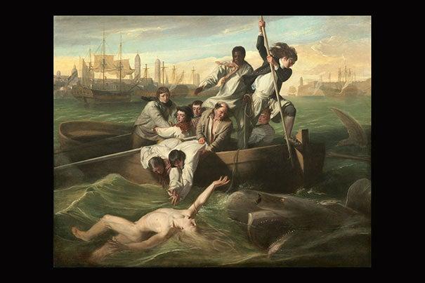 John Singleton Copley (American, 1738 - 1815 ), Watson and the Shark, 1778, oil on canvas, Ferdinand Lammot Belin Fund