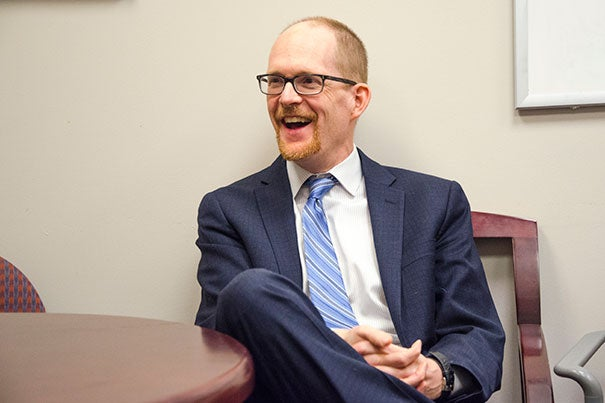 Jeffrey Huffman, associate professor of psychiatry, runs the Cardiac Psychiatry Research Program at MGH, which emphasizes positive psychology and behaviors, such as goal-setting and expressing gratitude, to improve patient outcomes and long-term health.