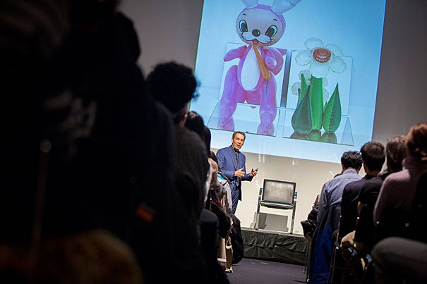 """Speaking at Harvard's Graduate School of Design, artist Jeff Koons said he deeply values """"acceptance"""" and removing the barriers that prevent many people from embracing art."""