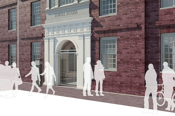 The newly designed front of Lowell House will feature Otto Hall as a main entry point to the House.