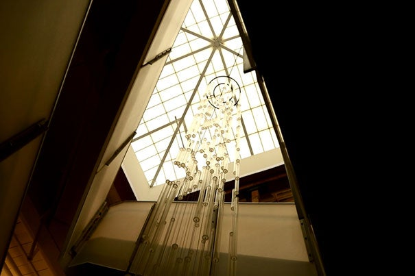 A study has shown the importance of a building's interior environment as it relates to productivity and overall health. At Harvard's Blackstone South, more than 90 percent of occupants have access to daylight as seen via this skylight.