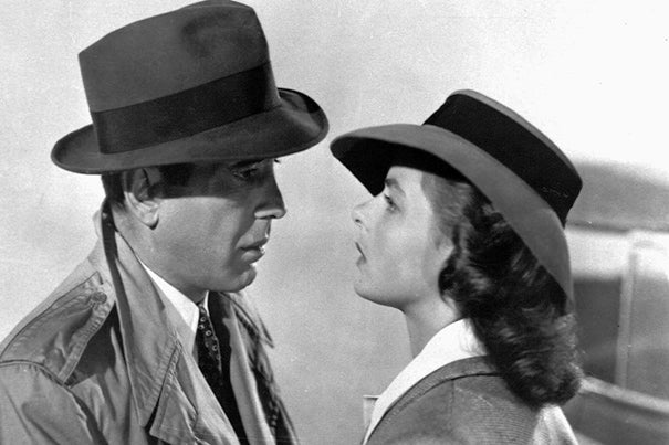 "Brattle Theatre Creative Director Ned Hinkle acknowledges the brilliance of ""Casablanca"" and of the Bogart-Bergman pairing. ""They are not going to lose their luster,"" he said, ""even after 75 years."""