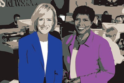 "PBS ""Newshour"" co-anchors Judy Woodruff (left) and the late Gwen Ifill will be awarded the Radcliffe medal for their journalistic influence and integrity both as individuals and partners. Journalist Michele Norris will accept Ifill's award."