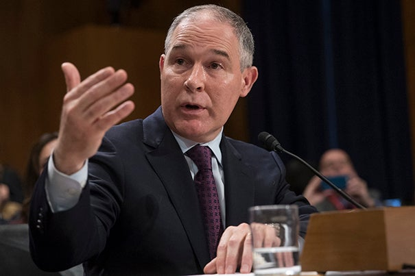 Robert Stavins, Albert Pratt Professor of Business and Government and director of the Harvard Project on Climate Agreements, anticipates that recently confirmed EPA Administrator Scott Pruitt (pictured) will pursue selective rollbacks of environmental regulations meant to combat climate change.