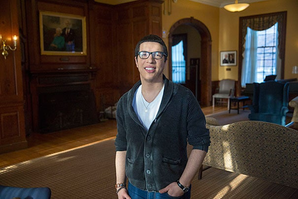 """Though a bout with mental illness forced Miguel Garcia '17 to take a leave of absence in 2012, his studies in the humanities have provided cathartic insight into his journey back to health. """"Both the study of history and literature deal with the nuances of the human experience — the beautiful, the brutal, and the mundane."""""""