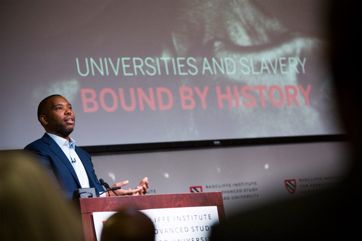 Universities and Slavery: Bound by History is a daylong conference stage with speaker.