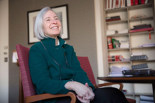 """The best part [of being dean] is working with extraordinary people at the School, from the library to my team to students to alumni. There are 37,000 HLS alumni around the world, and meeting them has been one of the most pleasant surprises,"" said HLS Dean Martha Minow, who is stepping down after eight years at the helm."