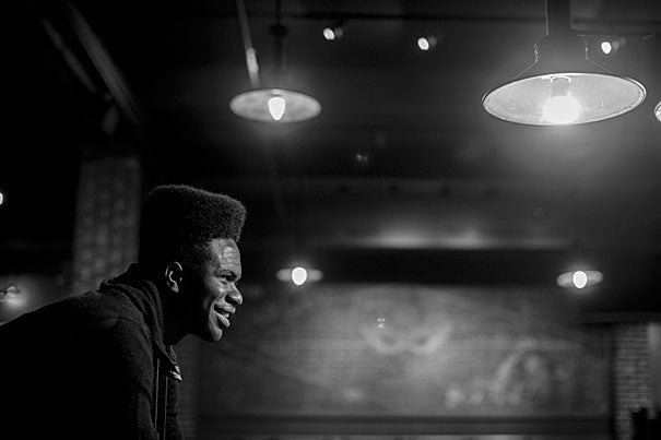 """Obasi Shaw '17 submitted Harvard's first rap thesis, """"Liminal Minds,"""" which combines elements of Middle English poetry with issues of racial identity in America. """"[African-Americans are] free, but the effects of slavery still exist,"""" says Shaw. """"Each song is an exploration of that state between slavery and freedom."""""""