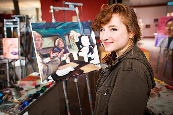 Neurobiology concentrator Brooke Bourgeois '17 performs improv comedy and draws cartoons for the Lampoon, but she's spending next year in Scotland for her Michael Rockefeller Fellowship, which specifically discourages professional and academic work in favor of personal discovery.
