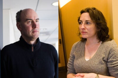 """2016 Fannie Cox Prize recipients Martin Nowak and Elena Kramer were chosen for their """"ability to teach challenging concepts with clarity and inspire undergraduates to pursue careers in the sciences,"""" said Edgerley Family Dean of the Faculty of Arts and Sciences Michael D. Smith."""