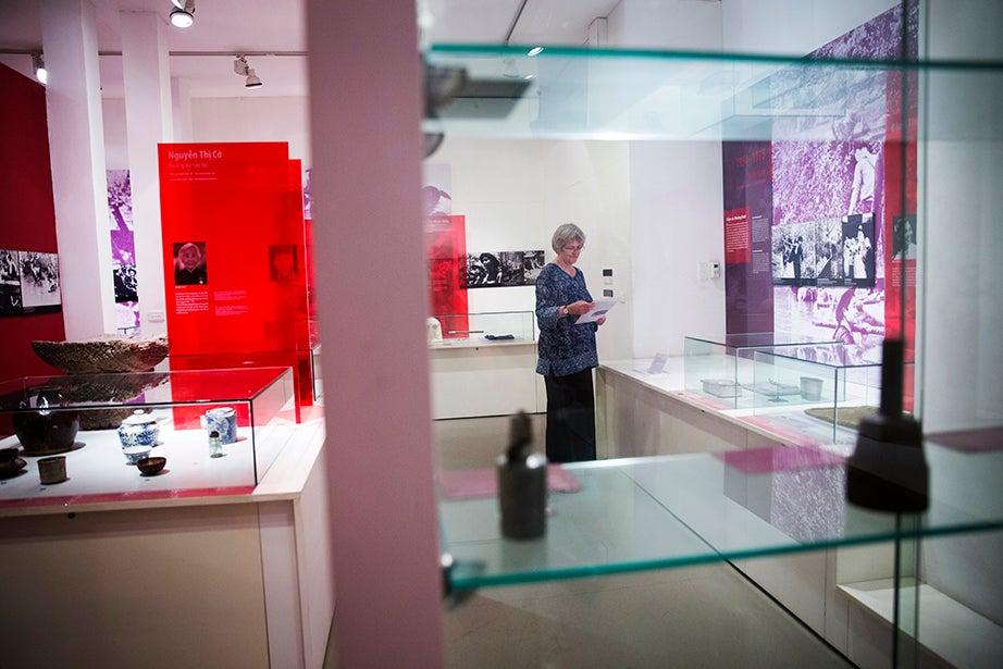 Drew Faust visits the Vietnamese Women's Museum in Hanoi.