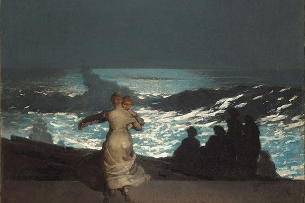 """One of the great triumphs of Winslow Homer's """"Summer Night,"""" says Harvard Art Museums' Elizabeth and John Moors Cabot Director Martha Tedeschi, is its ability to evoke sensations — such as the music the women are dancing to — that are otherwise impossible to put into visual art."""