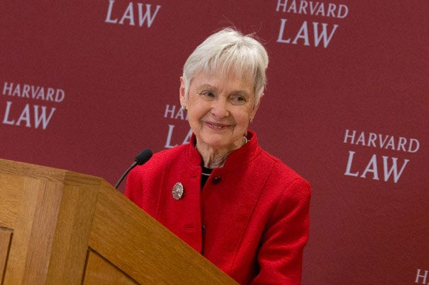 Maureen Scalia announces the donation of the judicial papers of her late husband, U.S. Supreme Court Justice Antonin Scalia, to the Law School Library. The Scalias met at Harvard as students in 1960, and considered Cambridge a second home.