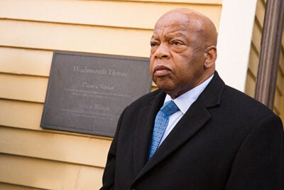 """""""I think we've got to continue to teach and preach. We've got to continue to inspire people to say, 'We can do it,'"""" said Civil Rights icon and Congressman John Lewis."""