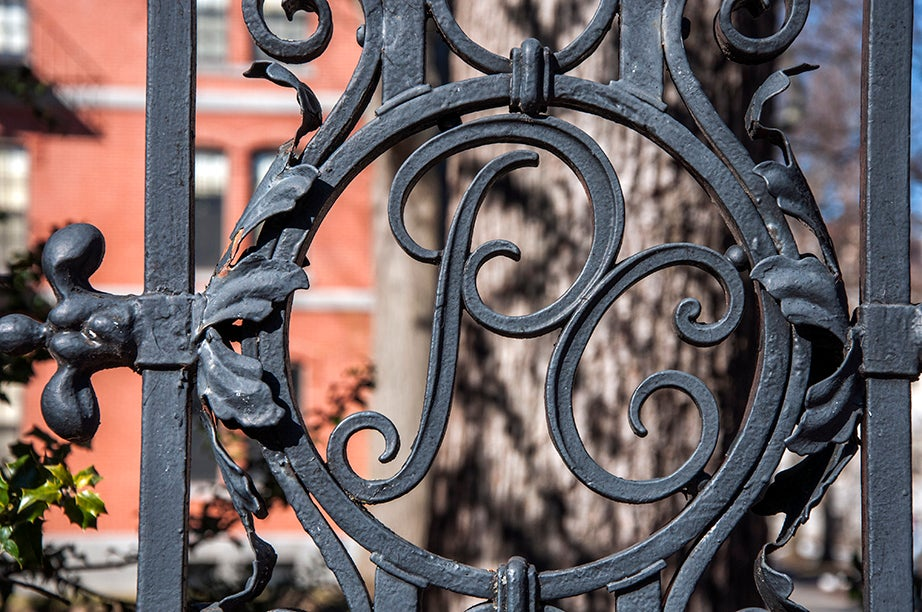 McKean Gate (Porcellian Club), South, takes its nickname from one of Harvard's oldest final clubs. The club won its name when Joseph McKean brought a roast pig to a meeting.