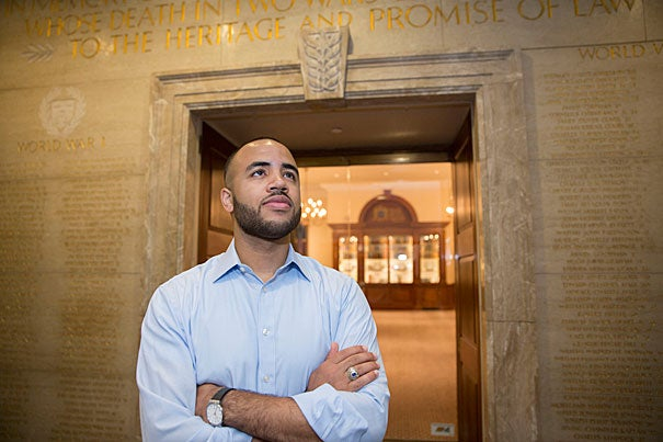 Decorated Army veteran David White had his first Law School class on his last day of active duty.