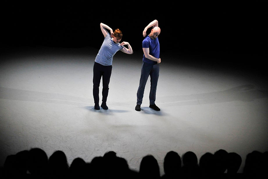 "Dancers Jill Johnson and Christopher Roman perform ""Catalogue (First Edition)"" at Harvard Dance Center. Jon Chase/Harvard Staff Photographer"